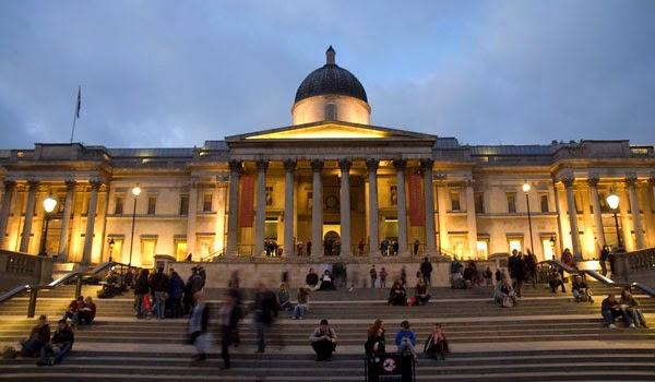 Entrada National Gallery em Londres