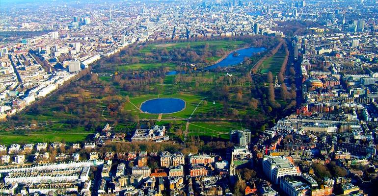 Tamanho Hyde Park em Londres
