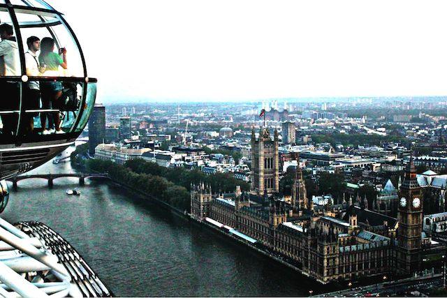 Vista da London Eye em Londres