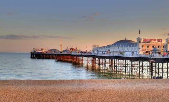 Praia Brighton em Londres