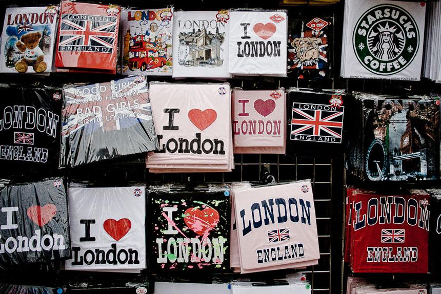 Lembrancinhas e souvenirs em Londres