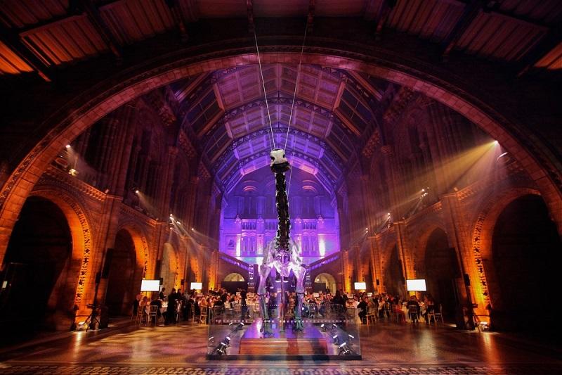 Museu à noite em Londres