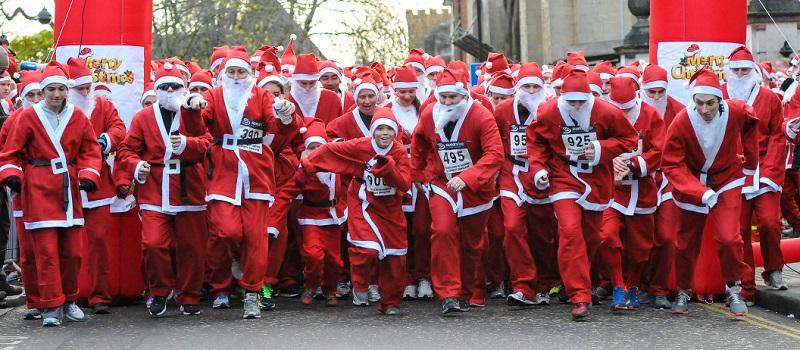 Corrida do Papai Noel em Londres