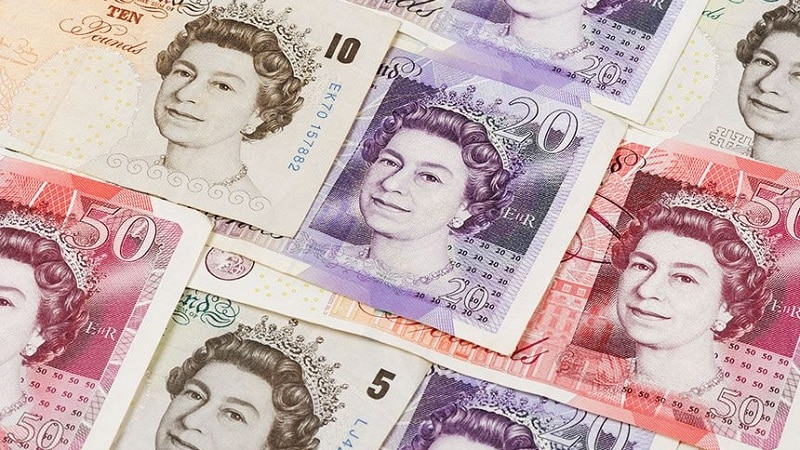 Dinheiro na Inglaterra