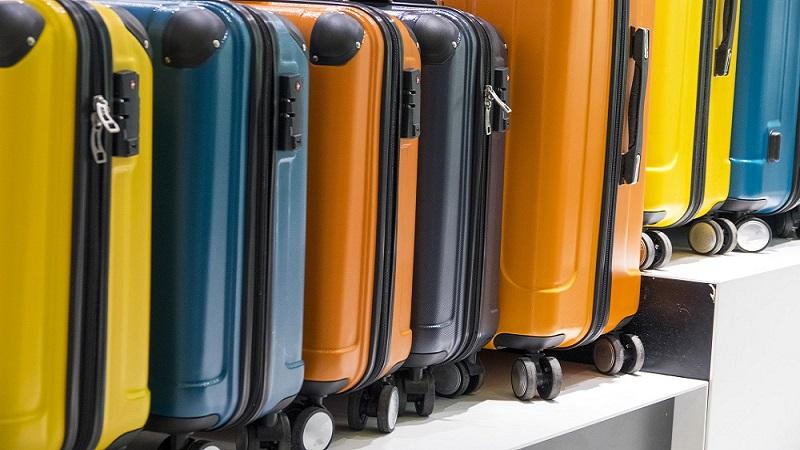 Variedade de malas de viagem
